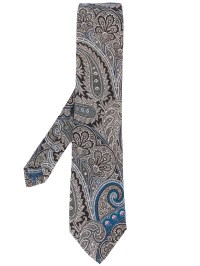 Etro Paisley Print Tie in Blue for Men | Lyst