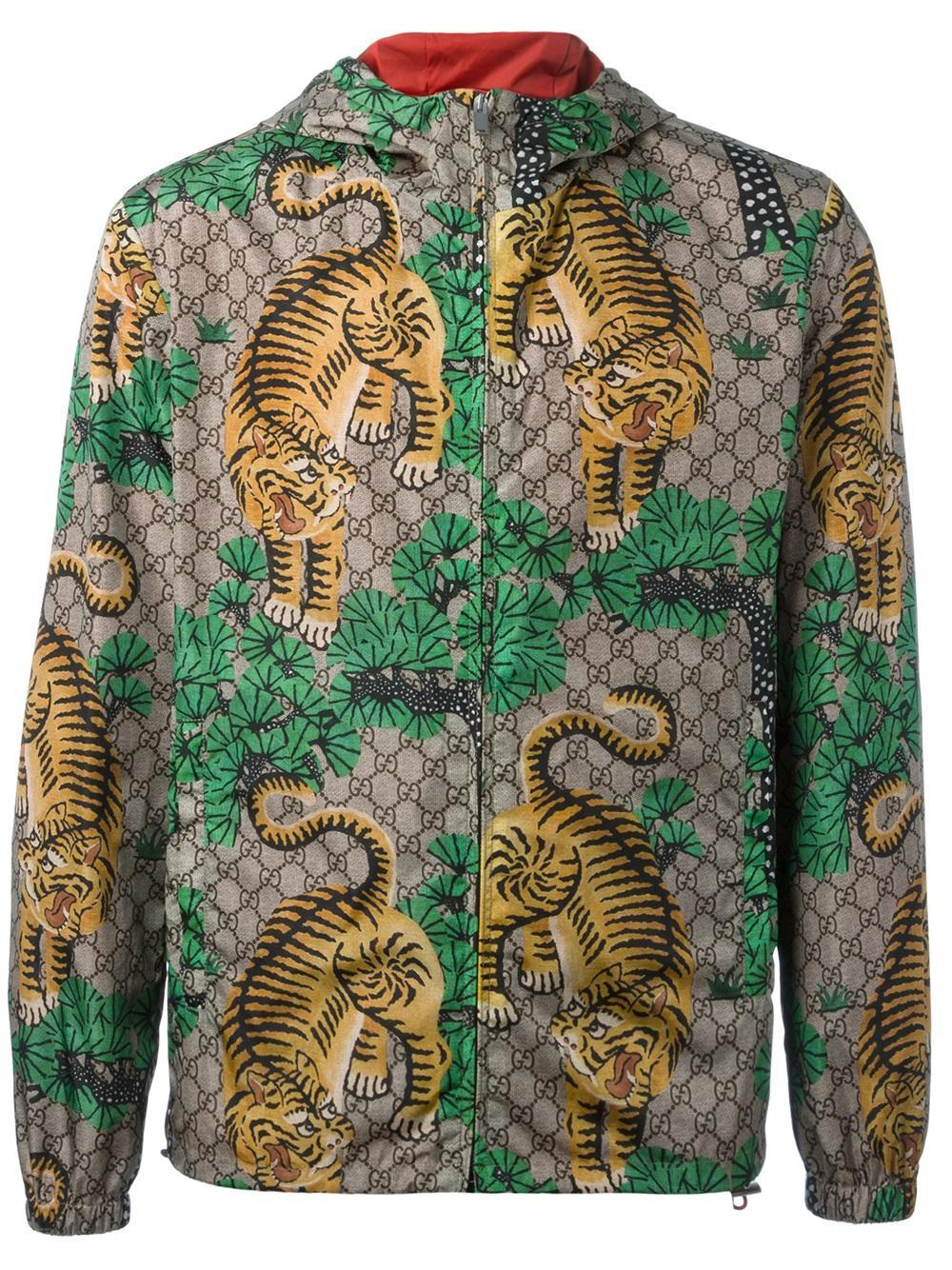 Men Tiger Jacket Gucci