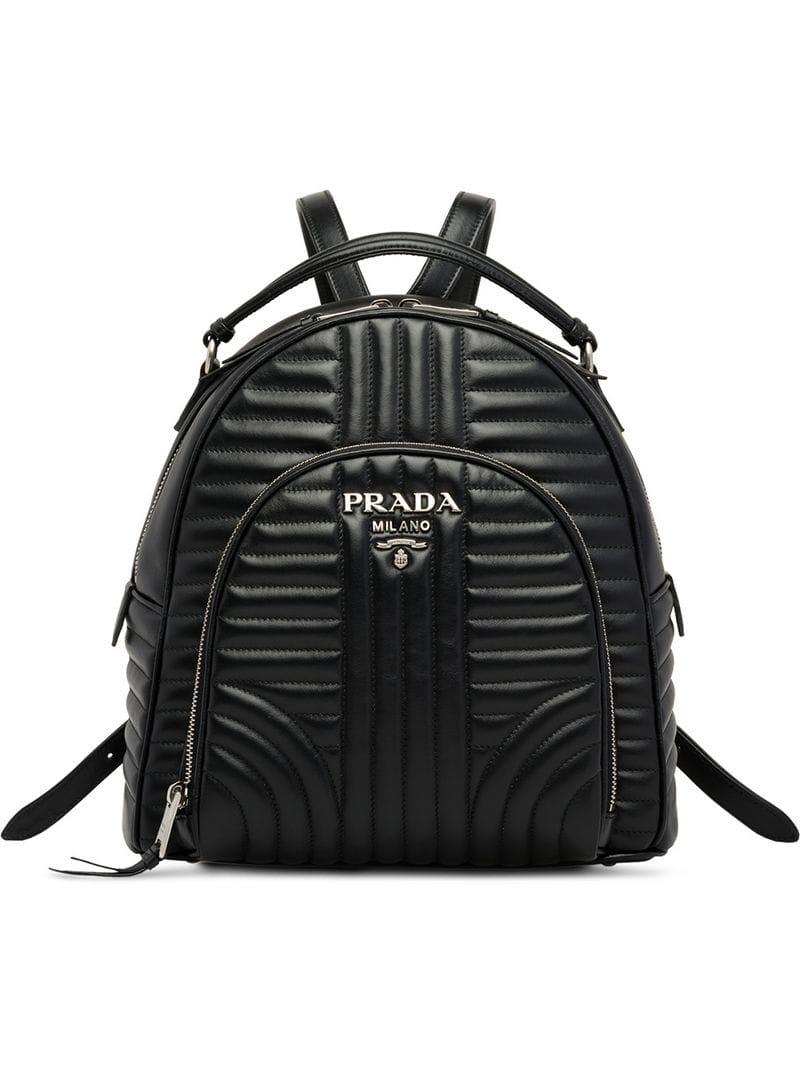 medium resolution of prada women s black diagramme backpack