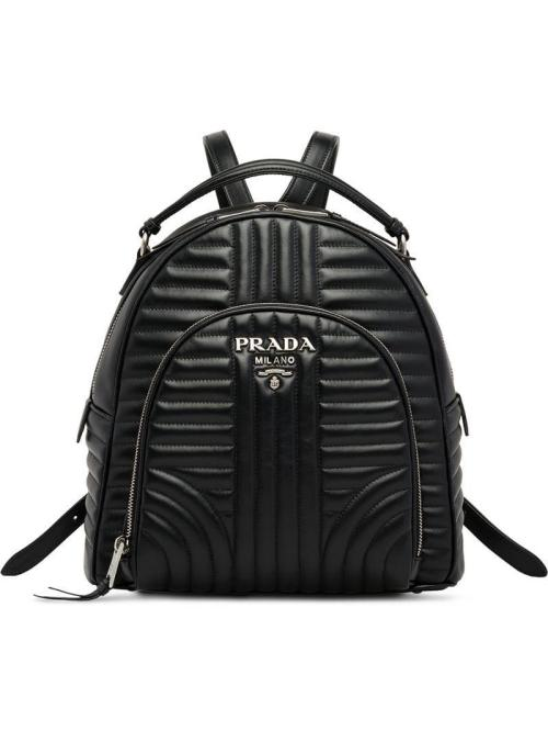 small resolution of prada women s black diagramme backpack
