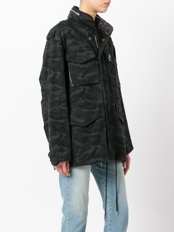 Lyst - Marc Jacobs Camouflage Print Oversized Jacket In Black