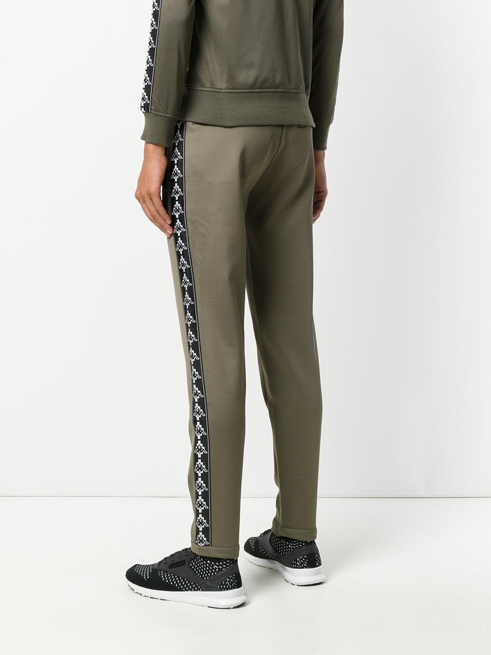 Marcelo Burlon Cotton X Kappa Sweatpants in Green for Men - Lyst