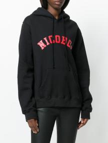 Lyst - Nicopanda Logo Print Hoodie In Black