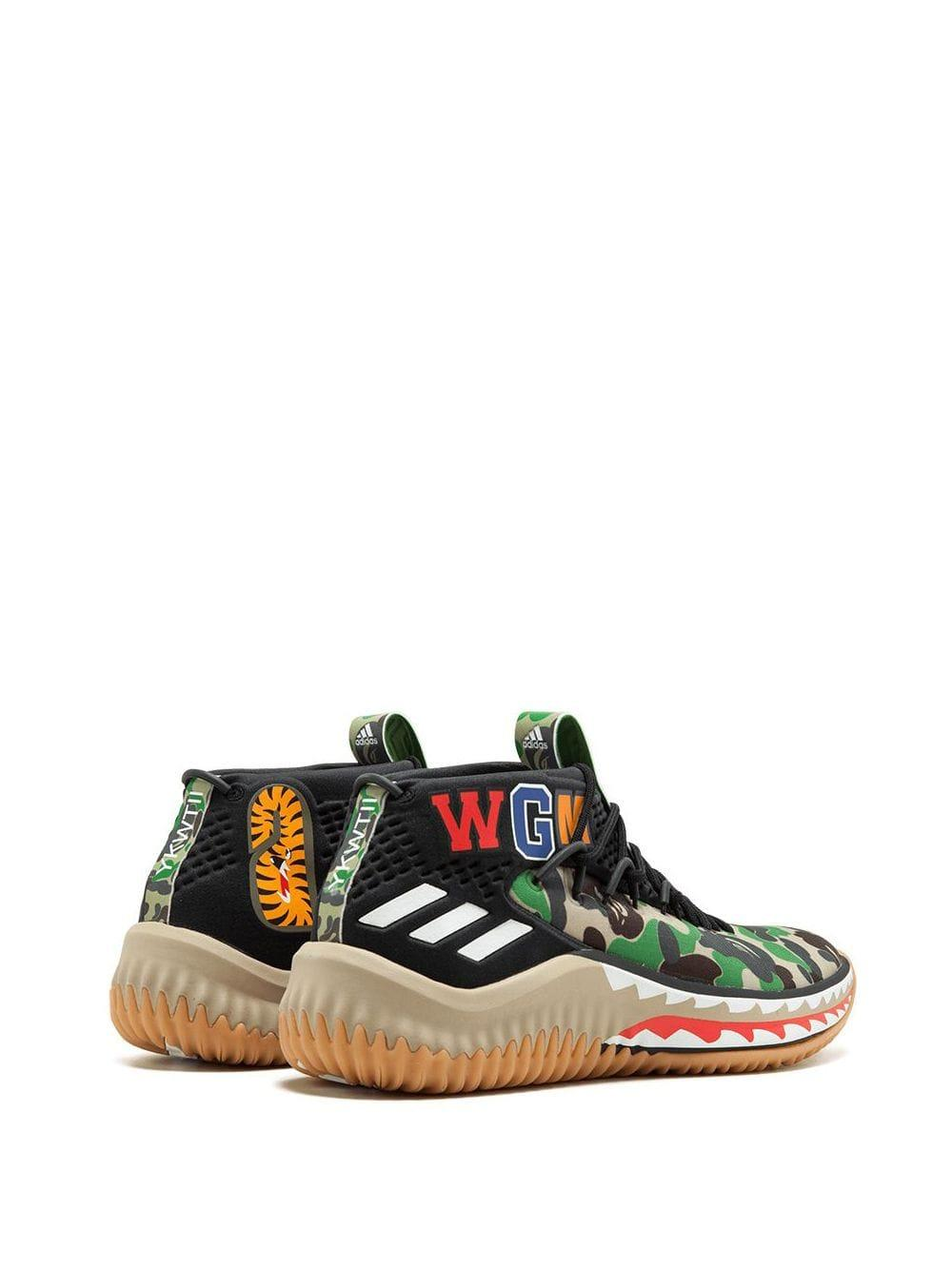 adidas Synthetic X Bape Dame 4 Sneakers in Black for Men - Lyst