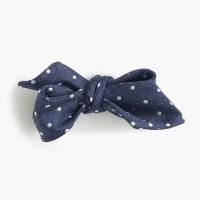 J.crew Italian Silk Bow Tie In Navy Dot in Blue for Men   Lyst