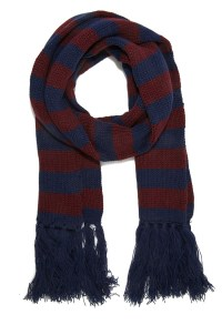 Forever 21 Striped Fringe Scarf in Blue for Men | Lyst