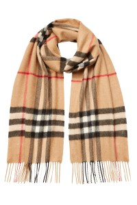 Lyst - Burberry Checked Cashmere Scarf - Beige in Brown ...