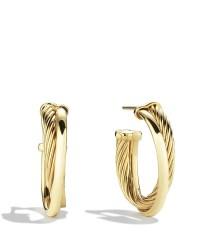 Lyst - David yurman Crossover Small Hoop Earrings In Gold ...