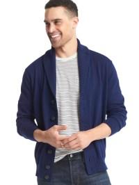 Gap Shawl Cardigan in Blue for Men (new navy) | Lyst