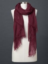 Gap Wool Solid Scarf in Purple (burgundy) | Lyst