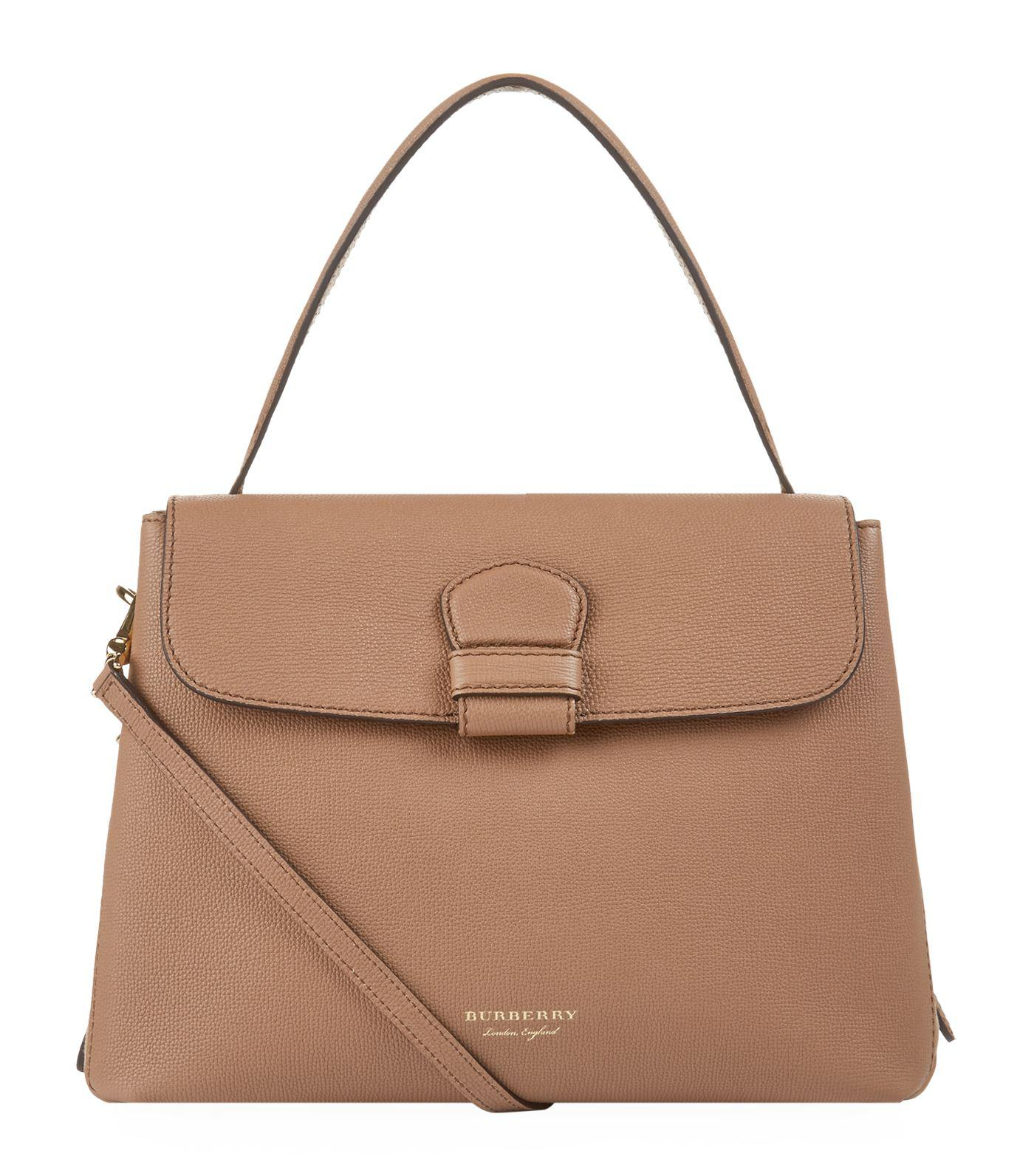 Burberry Leather Medium Camberley Tote in Beige (Natural) - Lyst