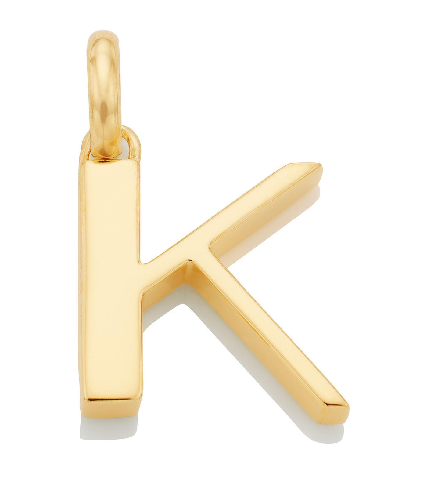 Monica Vinader Gold Vermeil Alphabet Pendant A Z In
