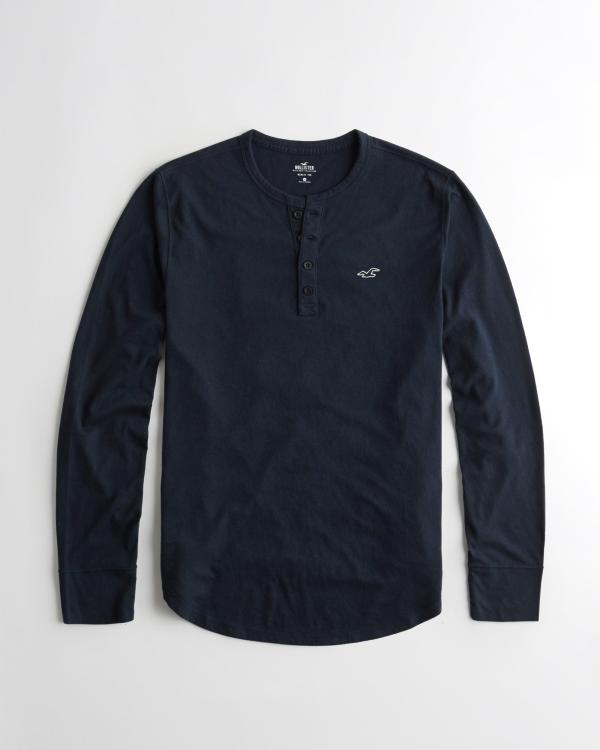 Hollister - Henley T-shirt In Blue Men Save 53 Lyst