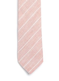 Lyst - Topman Stripe Cotton Tie in Pink for Men