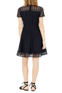 Warehouse Mixed Lace Prom Dress in Black - Lyst