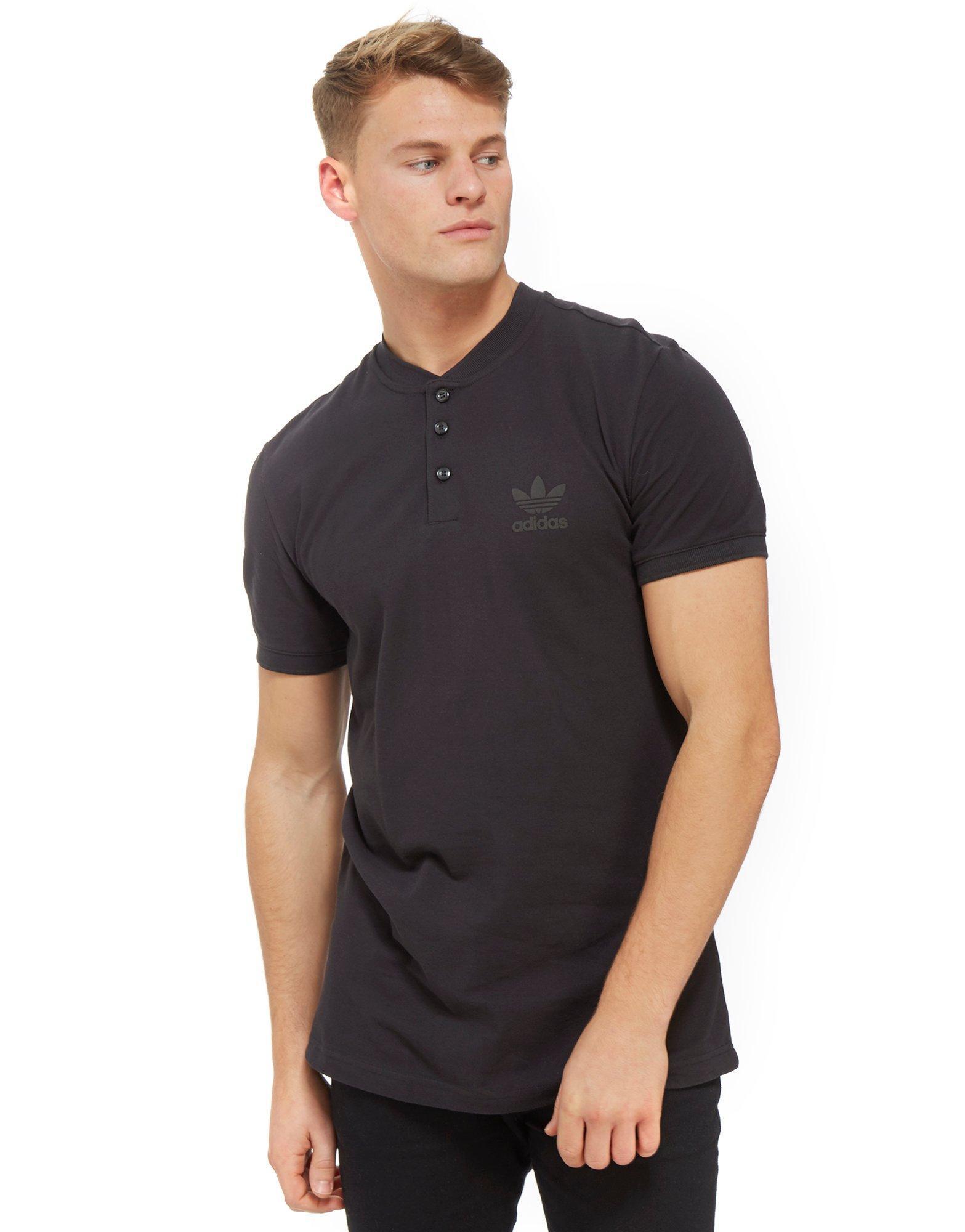 adidas Originals Cotton Winter Polo Shirt in Black for Men - Lyst