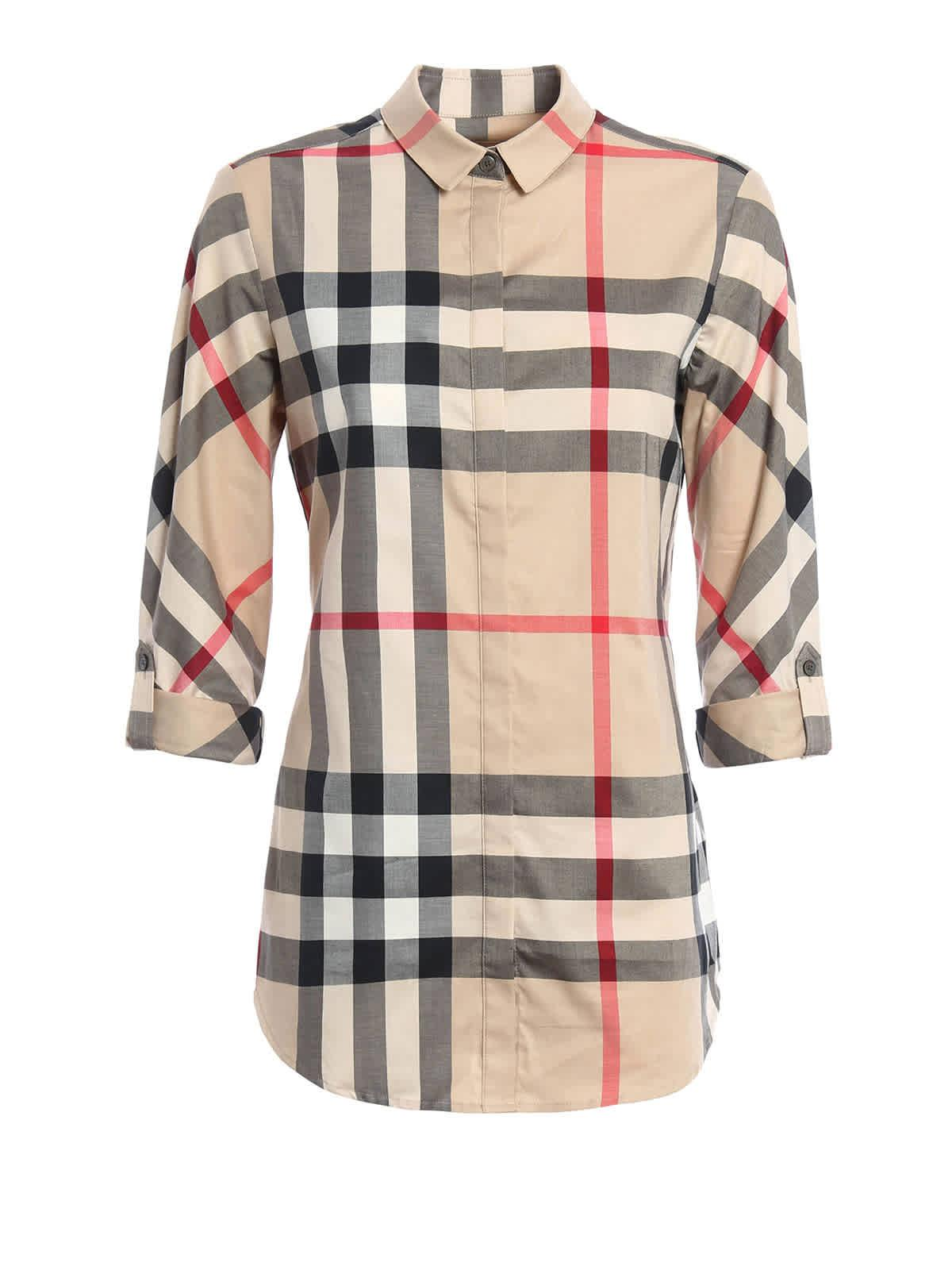 Burberry Stretch-cotton Check Shirt - Lyst