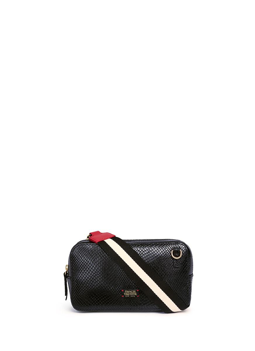Frances Valentine Lucy Snake Embossed Leather Crossbody