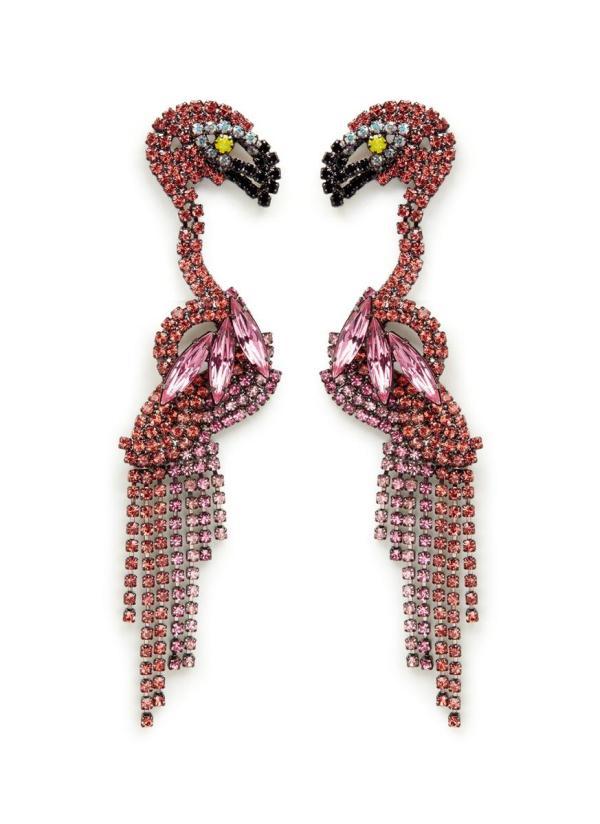Lyst - Elizabeth Cole 'georgy' Swarovski Crystal Flamingo
