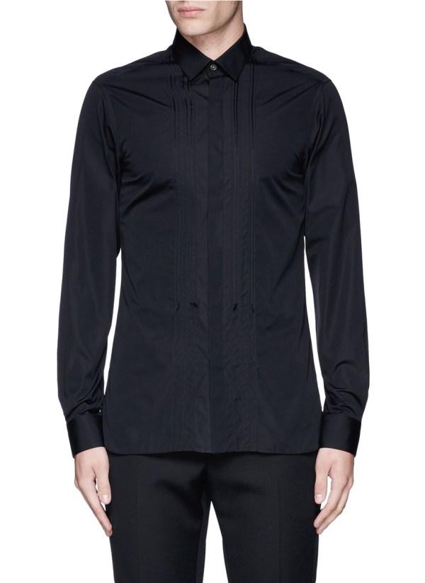 cead1d9fb841e9 Lanvin Slim Fit Bib Front Tuxedo Shirt In Black Men Lyst