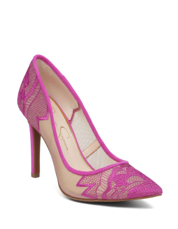 Lyst - Jessica Simpson Camba Embroidered Pumps In Pink