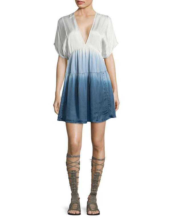 Free People - Ombre Dress In Blue Lyst