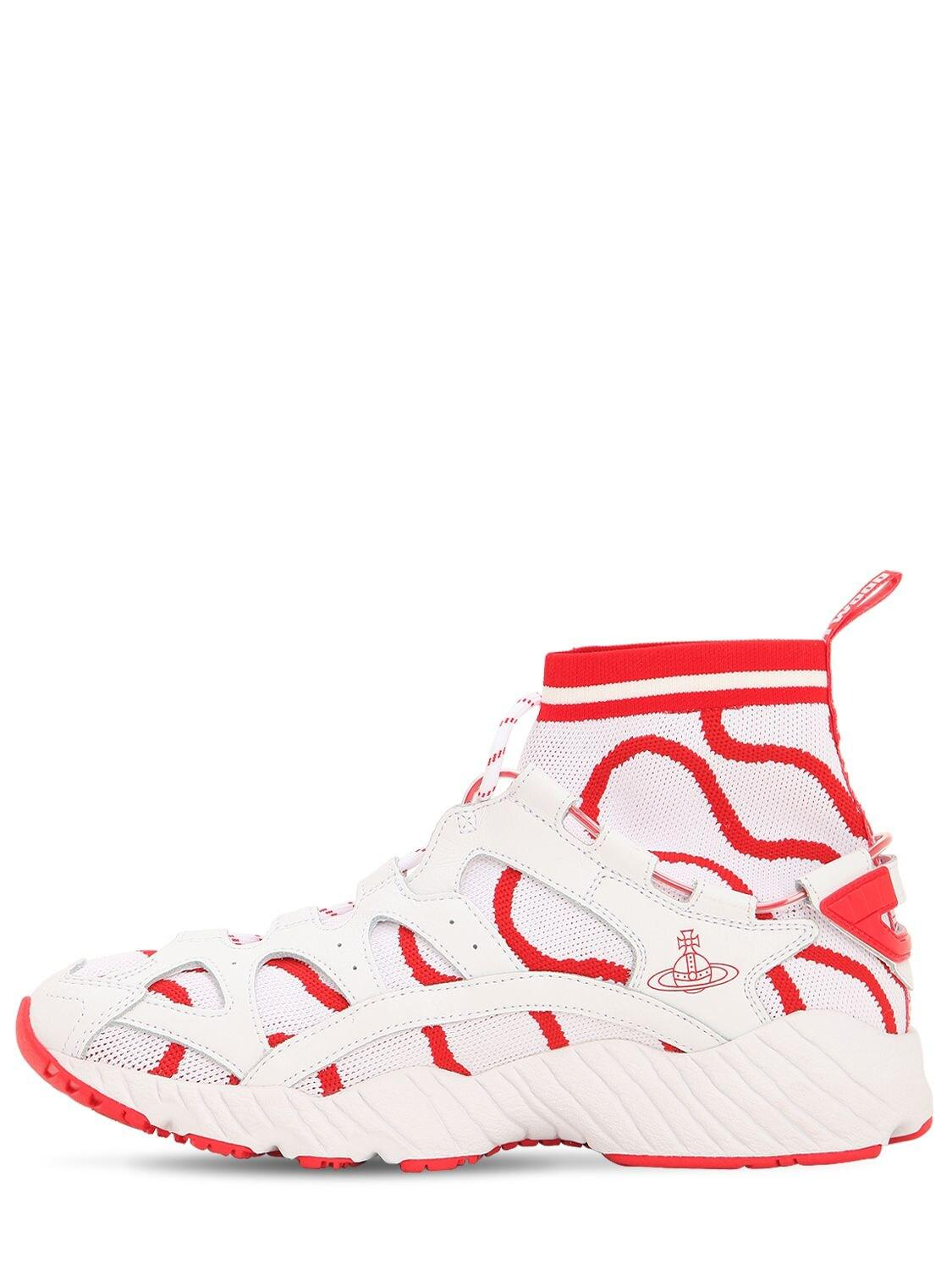 Asics Vivienne Westwood Gel-mai Knit Sneakers in White/Red (Red) for Men - Lyst