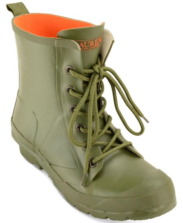 Lauren Ralph Mikenna Lace- Rain Boots In Green