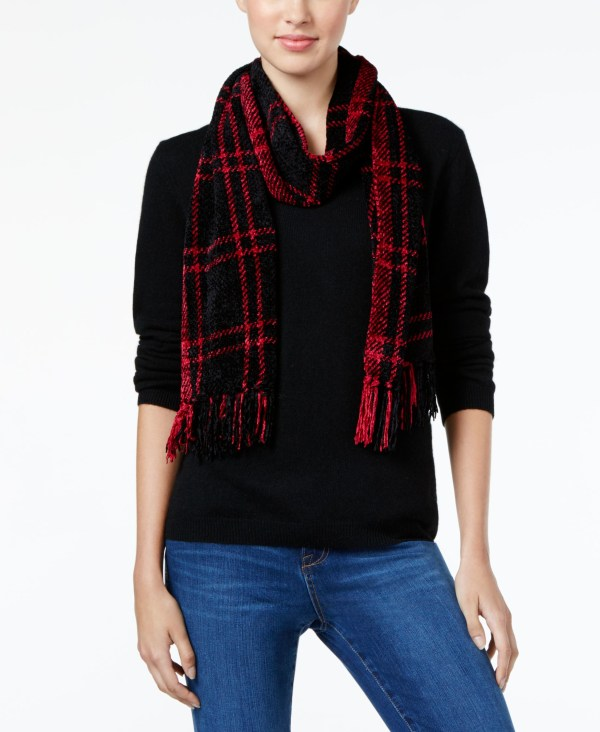 Charter Club Windpine Woven Chenille Scarf Macy'