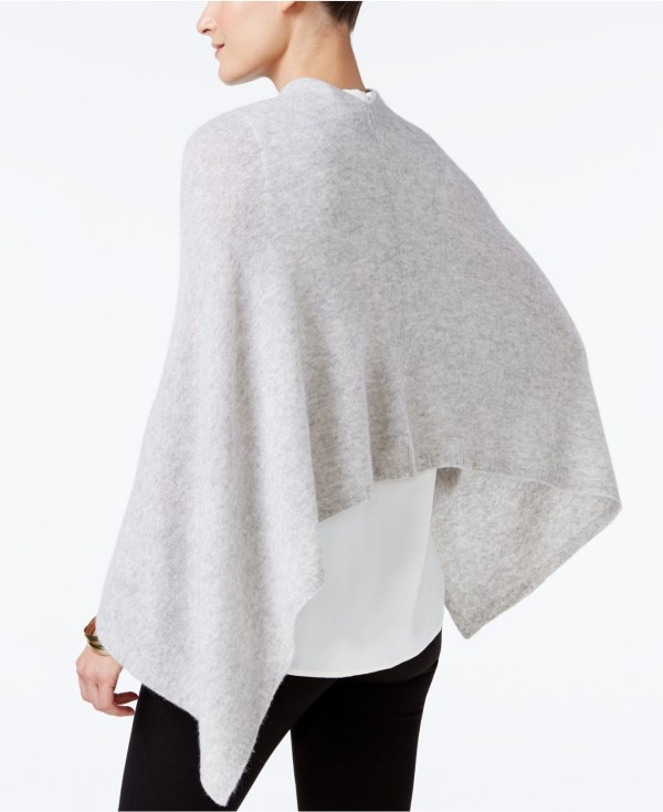 Lyst - Charter Club Cashmere Poncho In White