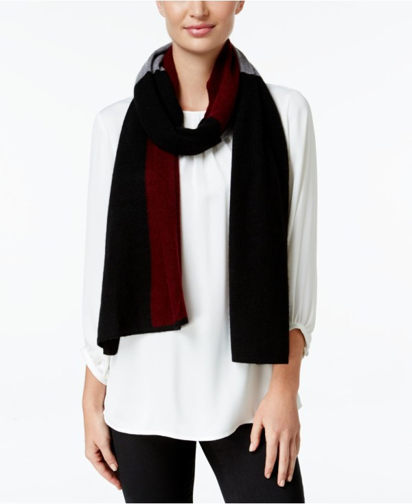 Charter Club Cashmere Colorblocked Scarf Macy'