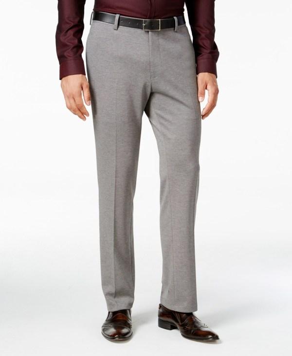 International Concepts Men' Tanner Slim-fit Knit Suit Pants Macy' In Gray Men