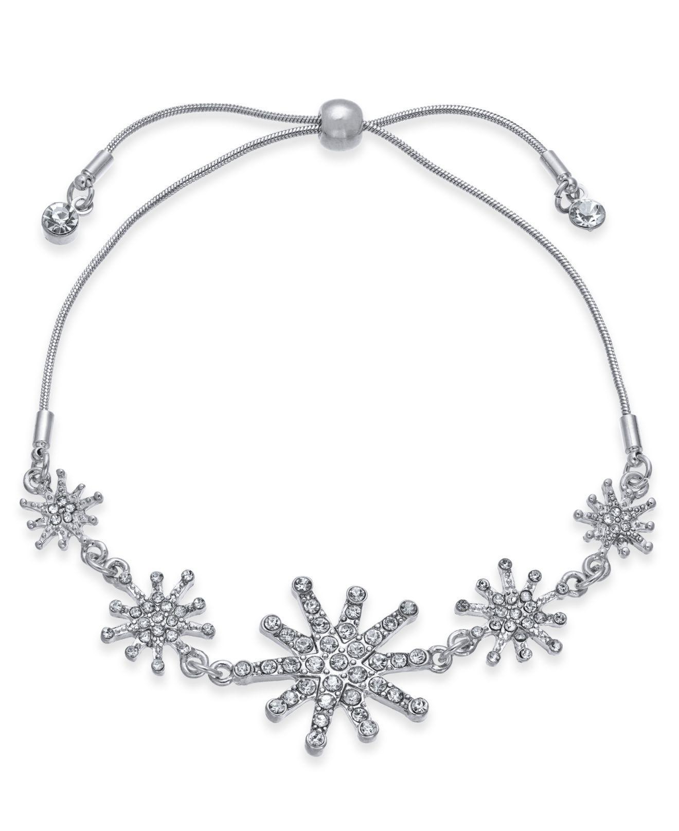 Inc International Concepts Inc Silver Tone Crystal