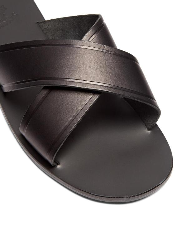 Ancient Greek Sandals Kritonas Leather In Black