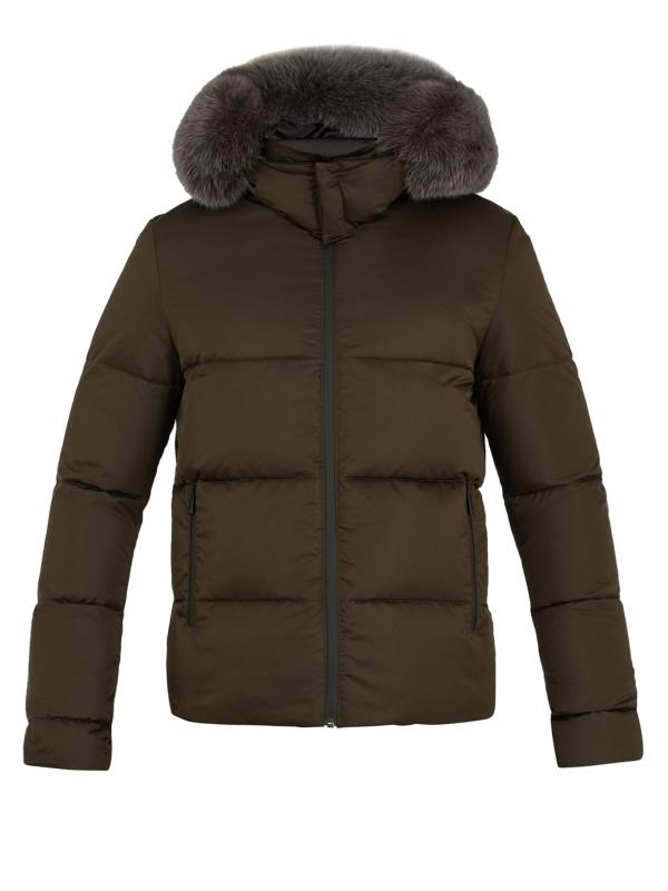 Lyst - Fendi Reversible Fur-trimmed Quilted- Coat Men