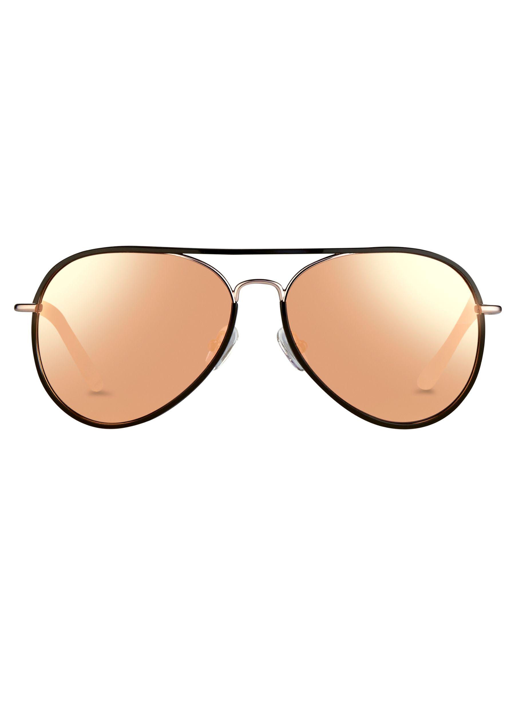 Matthew williamson Rose Gold Mirrored Aviator Sunglasses