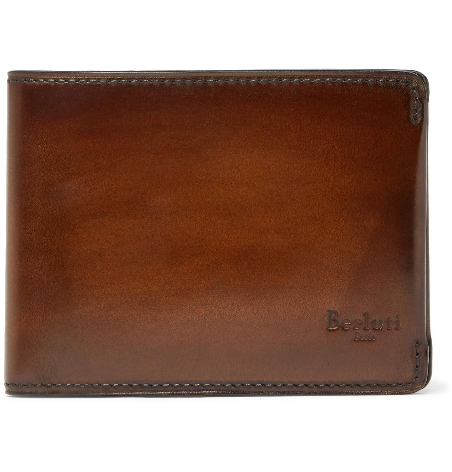 Berluti Leather Billfold Wallet in Tan (Brown) for Men - Lyst