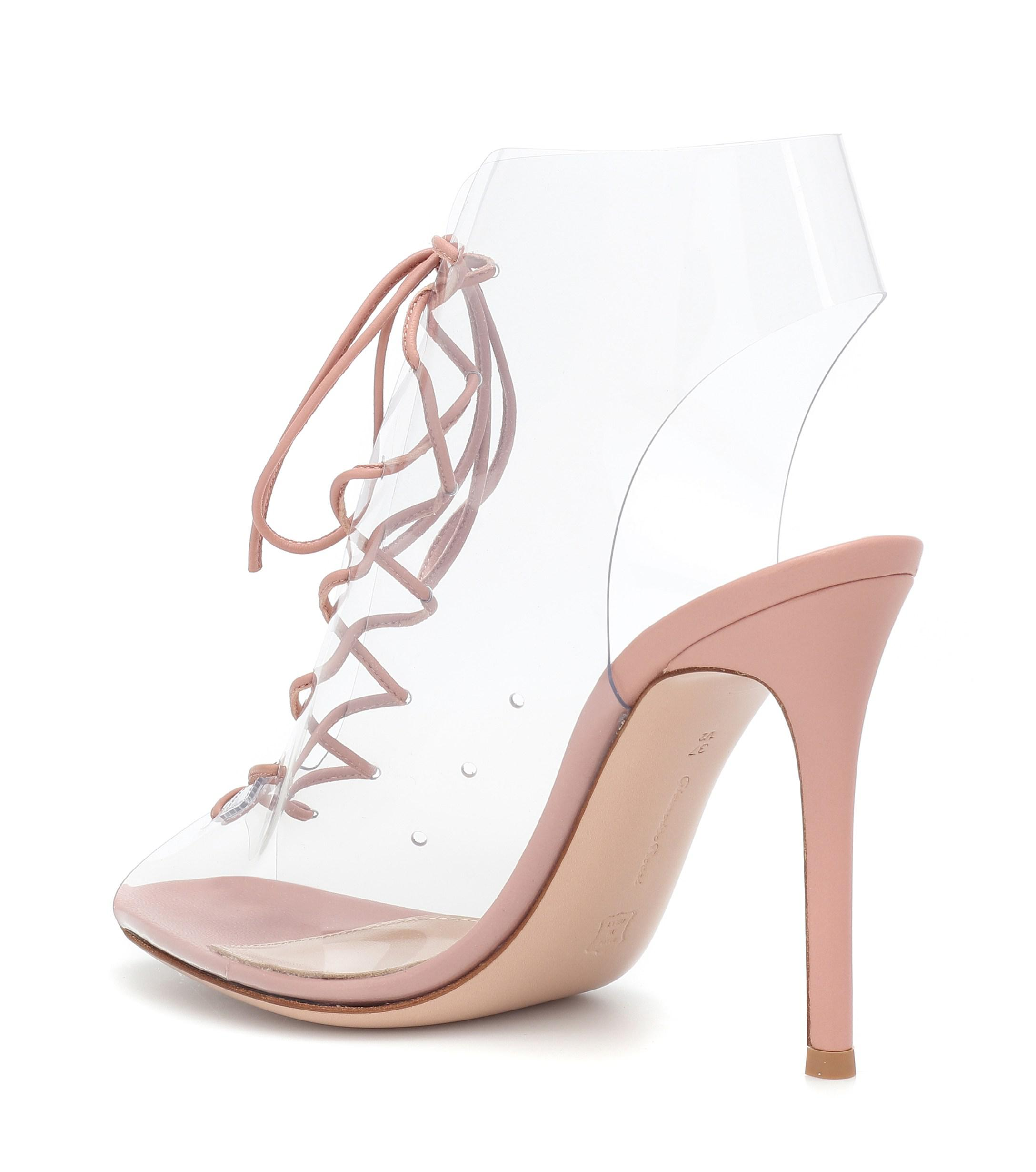 Gianvito Rossi Helmut Ankle Boots in Pink - Lyst