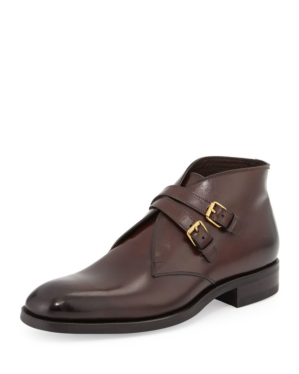 Tom Ford Edward Double-buckle Boot In Brown Men Lyst