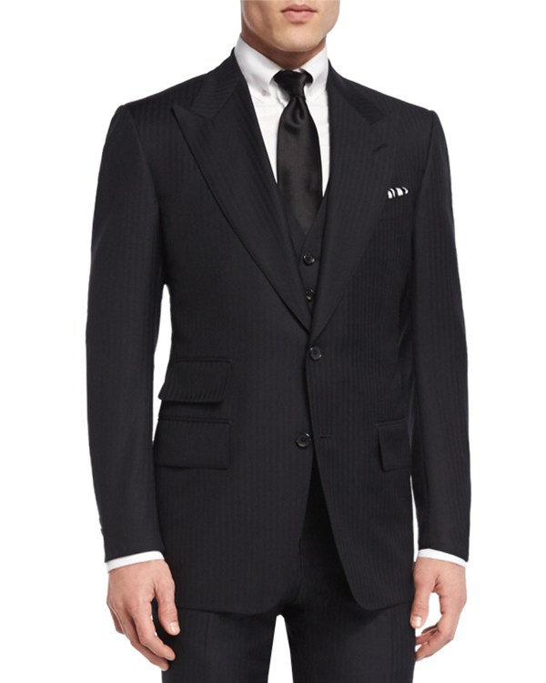 3 Piece Suit Tom Ford Black