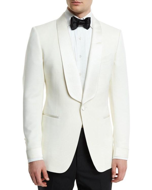 Tom Ford Tuxedo Jacket Ivory