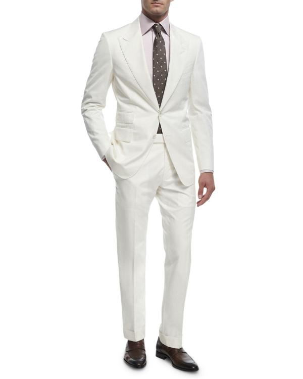 Lyst - Tom Ford 'connor Base Cotton Two-piece Suit In White Men