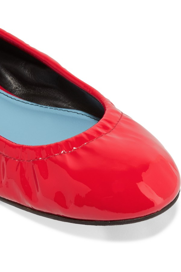 Lanvin Patentleather Ballet Flats in Red Lyst