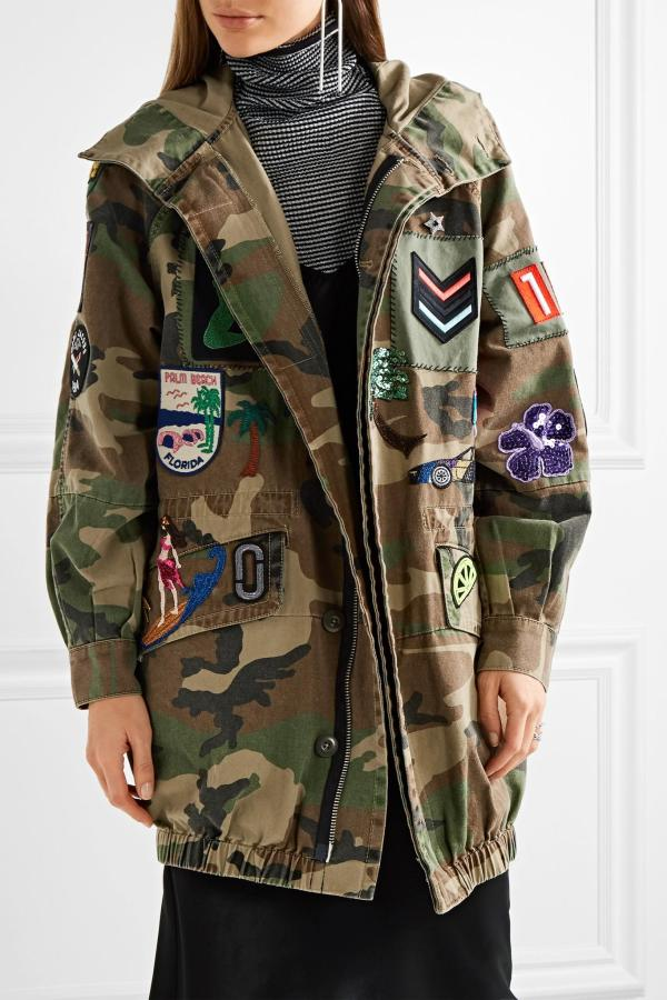 Marc Jacobs Patch-appliqu Camouflage-print Hooded Jacket