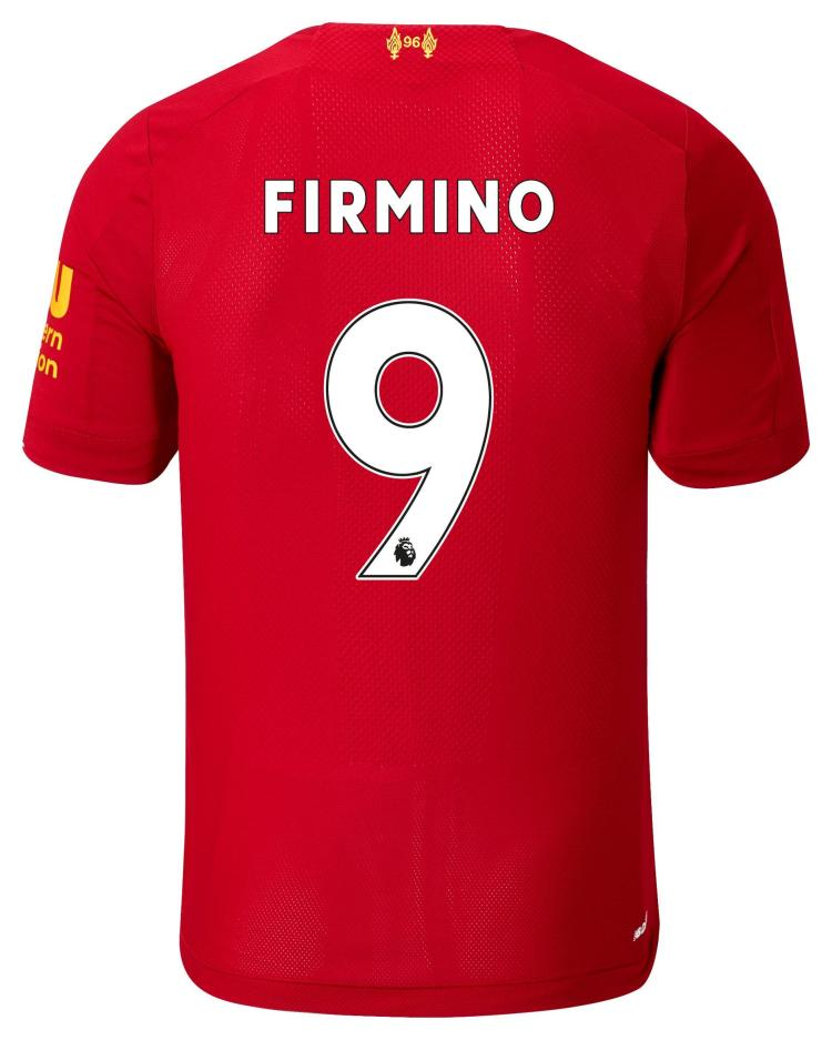 New Balance Liverpool Fc Home Ss Jersey Firmino No Epl ...