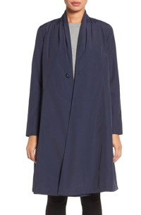Lyst - Eileen Fisher Lightweight Shawl Collar Organic ...