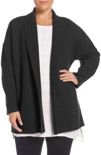 Lyst - Eileen fisher Boiled Wool Shawl Collar Coat in Black