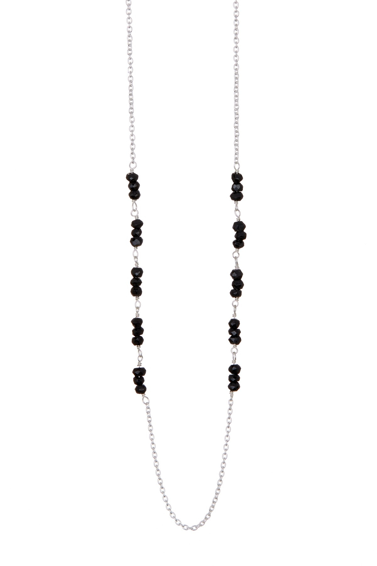 Argento Vivo Sterling Silver Long Beaded Link Necklace In