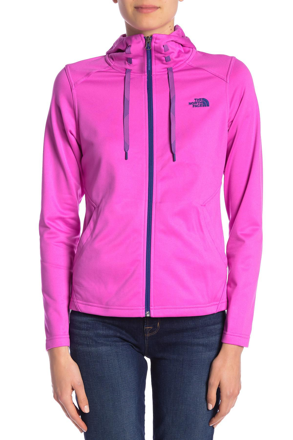 The North Face Synthetic Tech Mezzaluna Full Zip Hoodie Jacket in Pink - Lyst