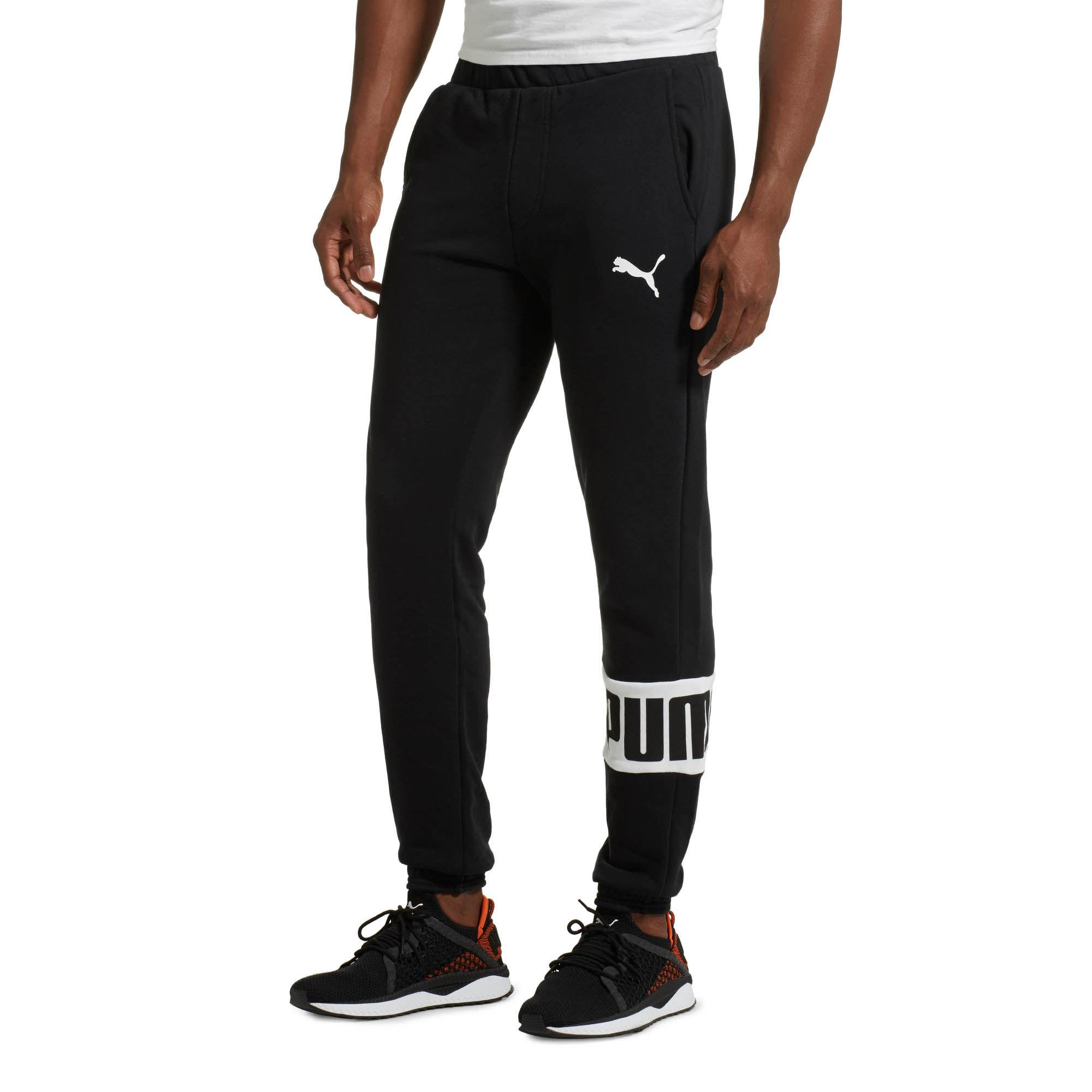 PUMA Cotton Men's Rebel Sweatpants in Black for Men - Lyst
